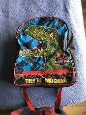 Jurassic Park 1992 They're Watching Backpack School Bag Vintage Rare