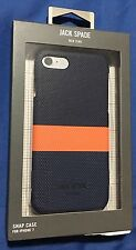 100% Authentic Jack Spade NY Horizontal Stripe Case For iPhone 7 - Blue/Orange