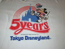 VINTAGE 1987 TOKYO DISNEYLAND MICKEY MOUSE TEE SHIRT MINT W TAGS LARGE