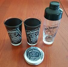 Jack Daniels old No. 7 Whiskey Pint Glasses, Shaker, Coasters  Jack's Birthday