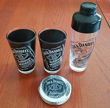 Jack Daniels old No. 7 Whiskey Pint Glasses, Shaker, Coasters  Jack's Birthday
