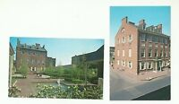 GREAT LOT OF 2 CARROLL MANSION, BALTIMORE, MARYLAND CHROME POSTCARDS