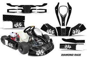 Go-Kart Graphics kit Decal for CRG JR Cadet and Bambino Kids Diamond Race Black