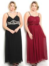 Polyester Full-Length Empire Waist Formal Dresses for Women