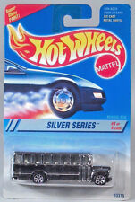 Hot Wheels Ford B Series Conventional School Bus Silver 7 Spoke Super Shiny