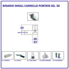 BINARIO KIT PER PORTA SCORREVOLE CM 125/140/180/200/250 portata KG.30