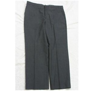 Barrington Gray Wool Dress Pants 40 Waist 30 Inseam Flat Front Mans Men's P116