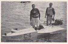 D7335 Il fuori-bordo dell'Ing. Passarini - Stampa d'epoca - 1930 vintage print