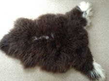 GENUINE SHEEPSKIN RUG (BROWN WITH WHITE MARKINGS) - EXTRA LARGE