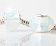2pcs European Silver Charm Beads Fit sterling 925 Necklace Bracelet Chain #T355