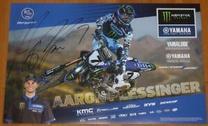 2020 Aaron Plessinger signed Monster Yamaha YZ450F Supercross Motocross Poster