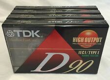 New listing Lot of 4 Tdk D-90 Minute Blank Audio Cassette Tape High Output