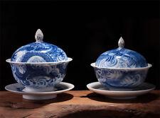 Dragon & Phoenix Gaiwan * Pure Hand Painted Jingdezhen Porcelain Gongfu Teacups