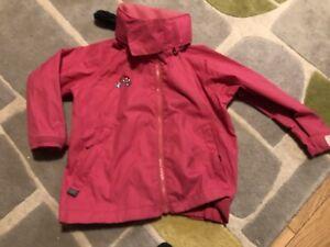 Togz waterproof Jacket pink Age 3-4