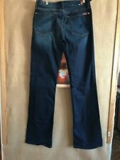 7 for all mankind midrise kimmie bootcut women's dark blue jeans size 32