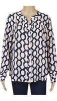 New Womens Ex Principles Blouse Shirt Chain Print Size 8 & 12  RRP £35.00