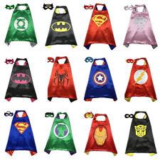 Superhelden Umhang Cape Maske Kinder Junge Mädchen Karneval Cosplay Kostüm Kostm