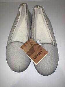 Zigzagger Womens Size 10 Wish Cotton Slippers Tan
