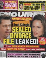 National Enquirer Magazine Angelina Jolie Brad Pitt Psychic Hollywood Prediction