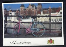 Posted 2003 View of a Dutch Bike & Canal, Amsterdam
