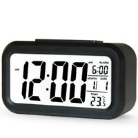 Digital Alarm Clock LCD Electronic Clock with Large Screen Battery Operated