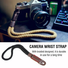 Soft Cotton Camera Hand Wrist Strap with Black Braided Design for Canon Sony F3