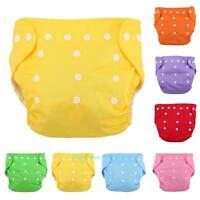 Unisex Infant Baby Reusable Diapers Nappies Soft Cover Washable Cloth Adjustable