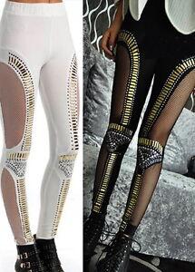 Pantalon legging gothique gothic lolita burlesque lingerie dentelle sexy