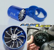 BLUE DUAL FAN TURBONATOR/GAS SAVER FOR SUPERCHARGER/TURBO/COLD AIR INTAKE HOSE A