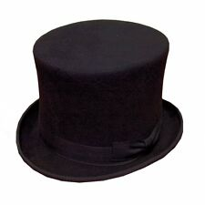Black Top Hat 100% Wool 5 Sizes Top Quality