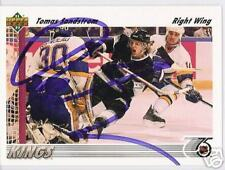 TOMAS SANDSTROM 1992 UPPER DECK LA KINGS AUTOGRAPHED HOCKEY CARD JSA