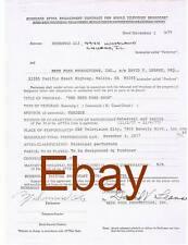 Muhammad Ali Redd Foxx Productions Television Contract