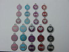 Acero Inoxidable Metal Placa Identificativa Mascotas Varios Colores Diseños &