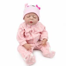 22'' Soft Body Silicone Bebe Reborn Baby Girl Doll Bathe Best Newborn Doll Gift