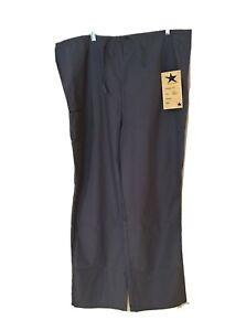 Medical Scrub XL Cargo Pant Unisex by Black Star Style 610 Grey Multi Pocket NWT