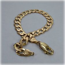 """9ct Gold 8.25"""" Flat Curb Link Bracelet"""