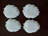 VTG Hazel Atlas Dish White Milk Glass grape fruit relish dish set of 4