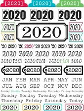NOW SHIPPING! 2020 YEAR OF MEMORIES Clear Backed Sticker Calendar Unpackaged Tab