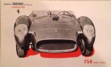 Ferrari 250 Testarossa Brochure See Photo's Reprint. Rare Own It