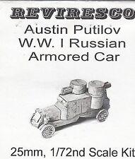 AUSTIN PUTILOV-russe camion blindé 1915 - 1. guerre mondiale - 1:72 - zinnbausatz