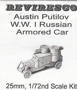 Austin Putilov - Russischer Panzerwagen 1915 - 1. Weltkrieg - 1:72 - Zinnbausatz