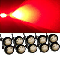 10X Red Car Motorcycle Eagle Eye LED DRL Daytime running Backup Lights Fog Lamp