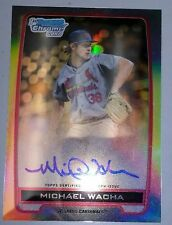 2012 12 MICHAEL WACHA CARDINALS BOWMAN CHROME REFRACTOR REF ROOKIE RC AUTO