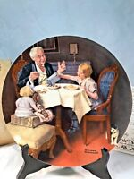 """1985 """"The Gourmet"""" by Norman Rockwell Bradford Exchange Collectible  NIB"""