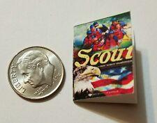 Miniature book Boy Scouts Handbook  Action Figure Gi Joes Barbie 1/12 Scale N