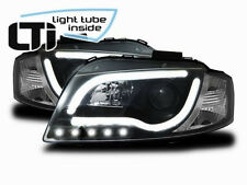 Light Tube LED Headlights in Black finish DRL LOOK for Audi A3 8P 8PA 03-08
