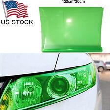 "Green Glossy Vinyl Taillight Fog Headlight Lamps Tint Film Sheet Decor 12""X 48"""