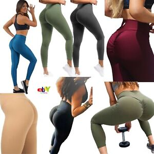 Womens Sports Gym Leggings Yoga Fitness Pants Scrunch Butt Lift Push Up Ladies