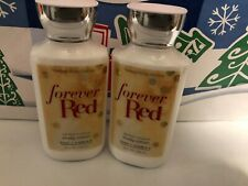 LOT OF 2 BATH AND BODY WORKS FOREVER RED BODY LOTION
