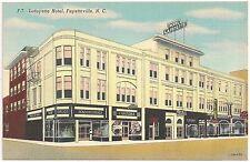 Lafayette Hotel in Fayetteville NC Postcard